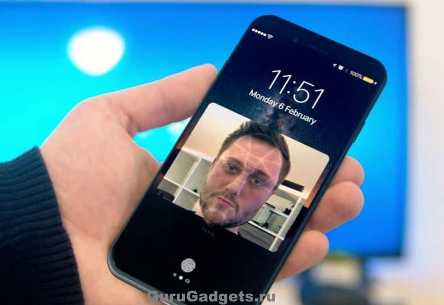 распознавание лиц в iPhone 8